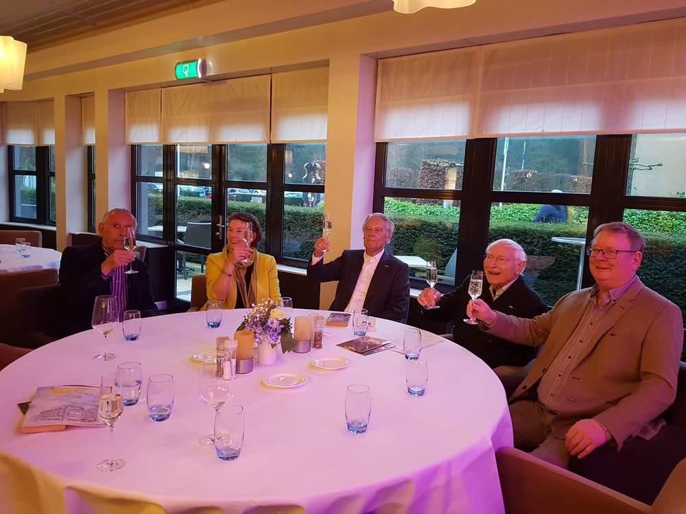 Jack van den Eekhout, Barbara van Leeuwen, Paul Tichelaar en Fokke Hofman - Golden Tulip Reunie